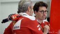 Maurizio Arrivabene, Team Principal and Mattia Binotto, Ferrari Race Engine Manager