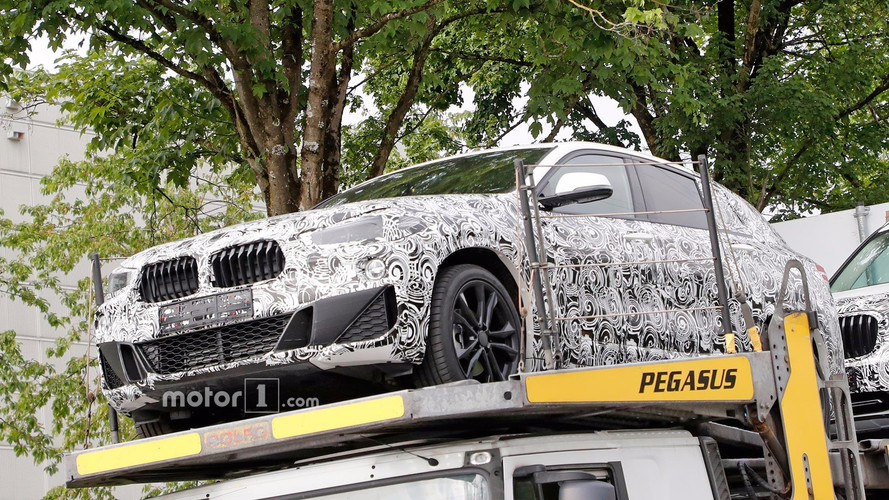 BMW X2 Front End Spied Up Close