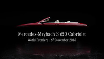 Mercedes-Maybach S650 Cabriolet teasers