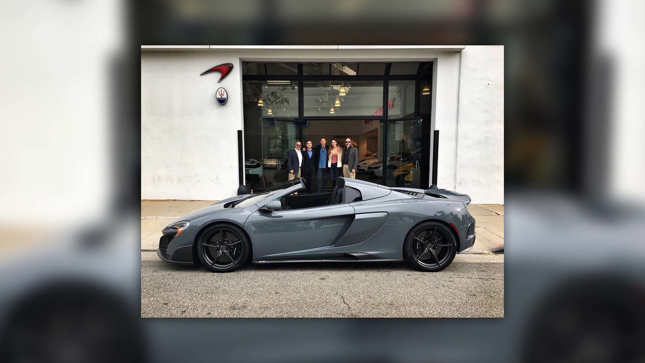 Jenson Button's McLaren 675LT Spider