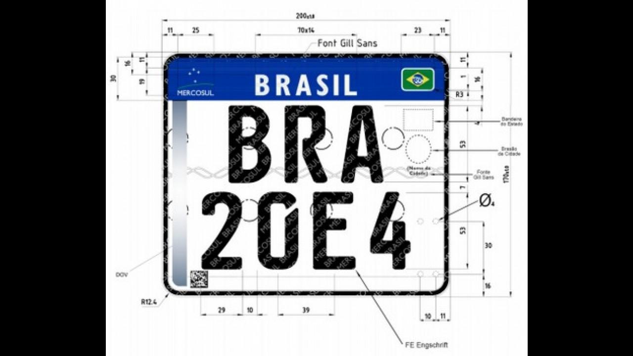 Brasil começa a adotar placa padrão Mercosul a partir de janeiro de 2017