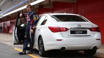 Sebastian Vettel, con el Infiniti Q50