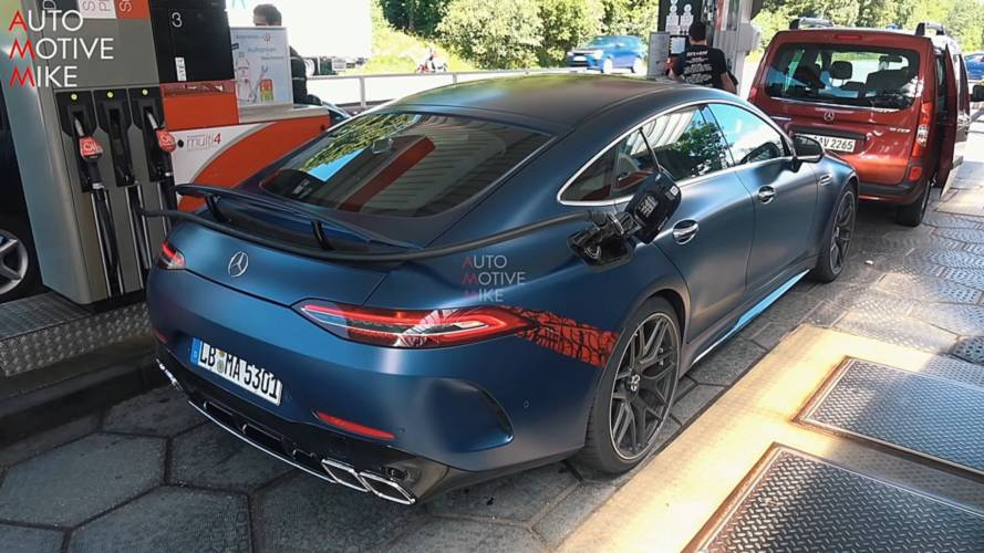 Mercedes-AMG GT 4-Door Coupe Back At The Nurburgring Without Camo