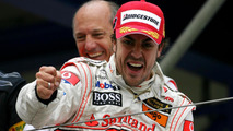 Fernando Alonso with Ron Dennis 22.07.2007 European Grand Prix