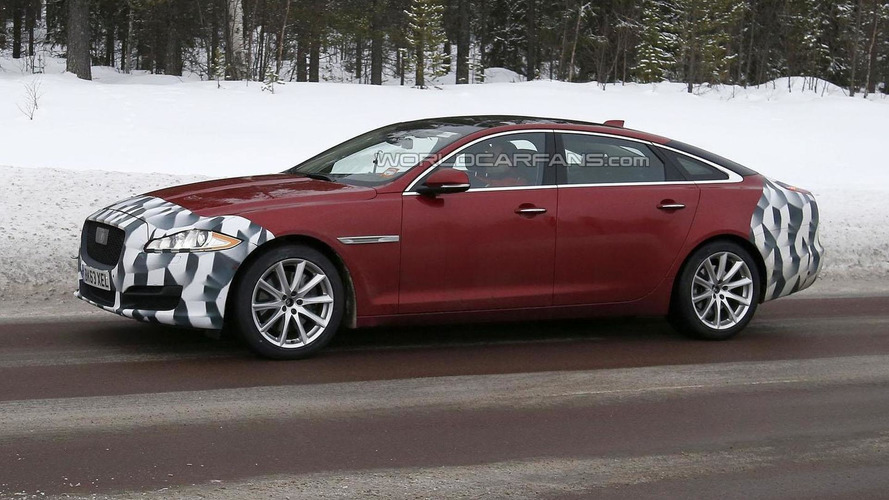 2015 Jaguar XJ facelift spied with minimal camouflage