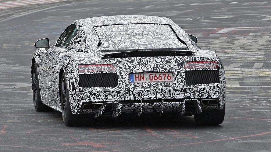 Revamped Audi R8 spied up close again testing on the 'Ring
