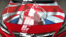 Vauxhall Astra Ellesmere Port Flag Bonnet