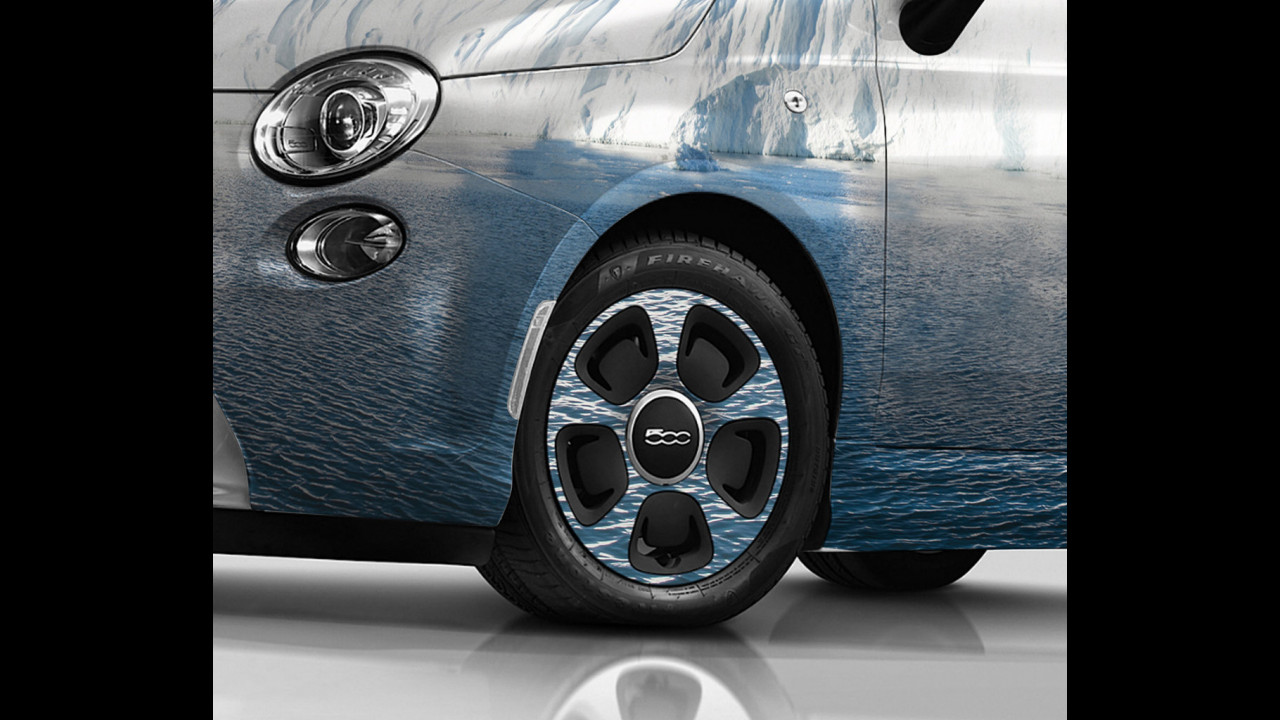 Fiat 500e Sea Ice