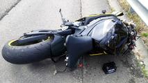 Rider Crash Lands On Roof