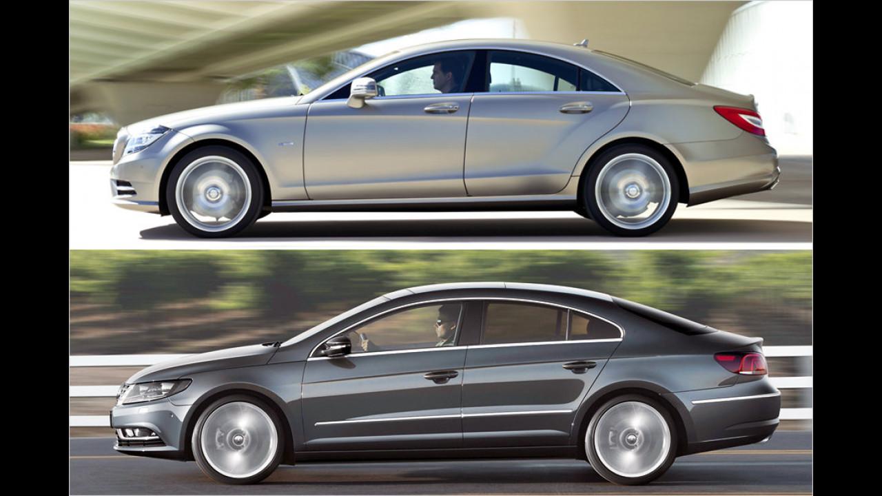 Mercedes CLS und VW CC
