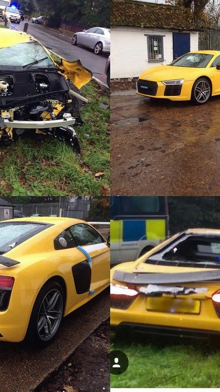 Audi R8 V10 Plus crash