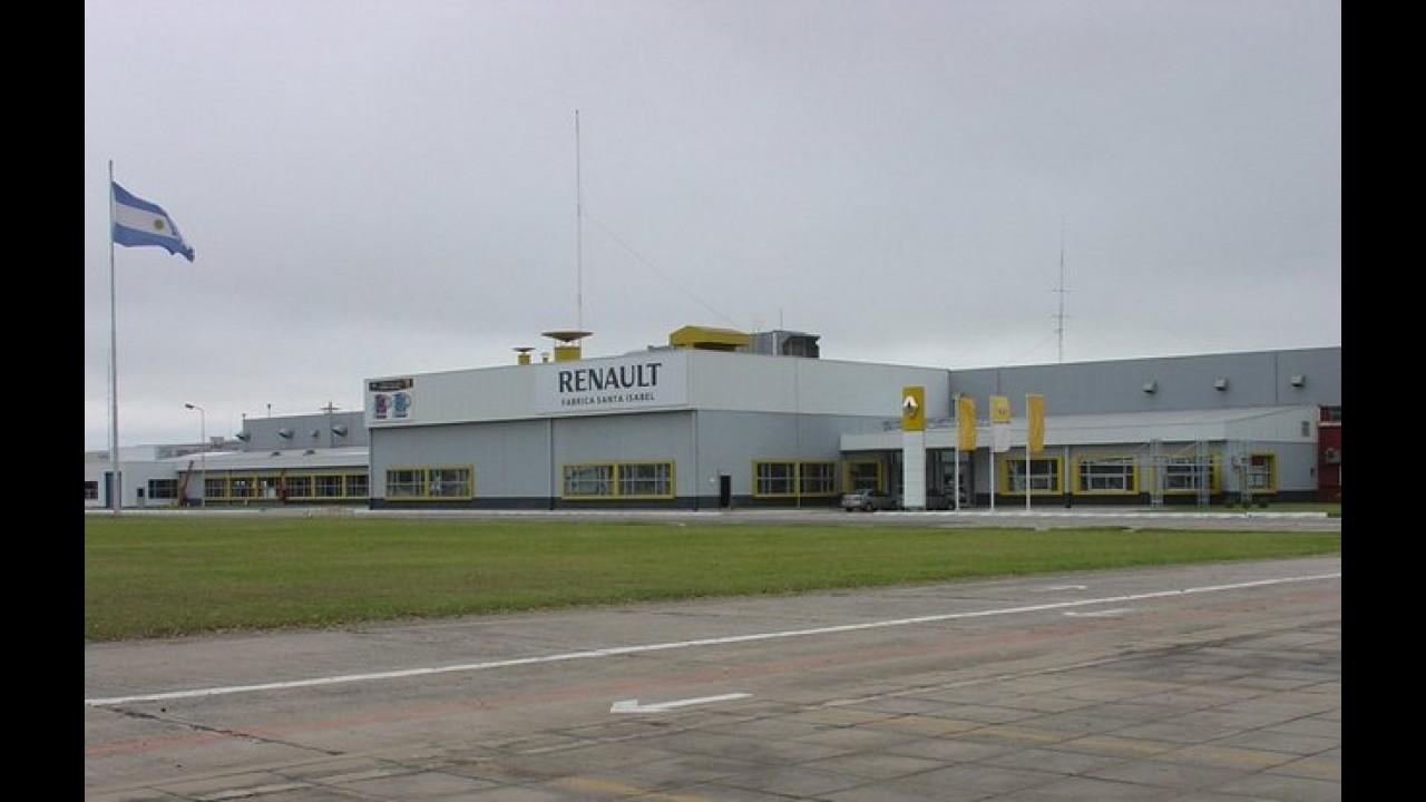 Renault suspende produção na Argentina por falta de peças