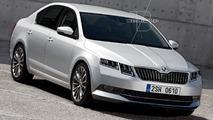 Skoda Octavia facelift render