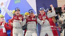 LMP1 Podium- race winners #8 Audi Sport Team Joest Audi R18- Lucas di Grassi, Loic Duval, Oliver Jarvis