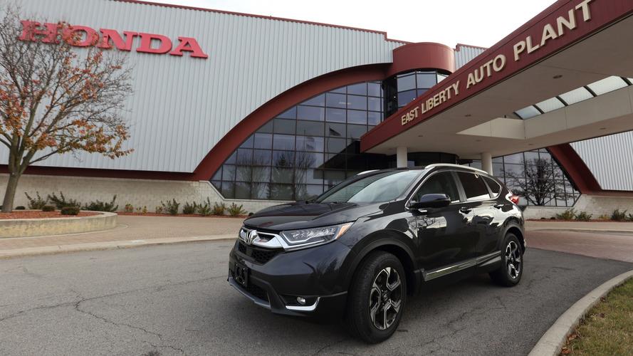 Novo Honda CR-V 2017 1.5 turbo começa a ser produzido