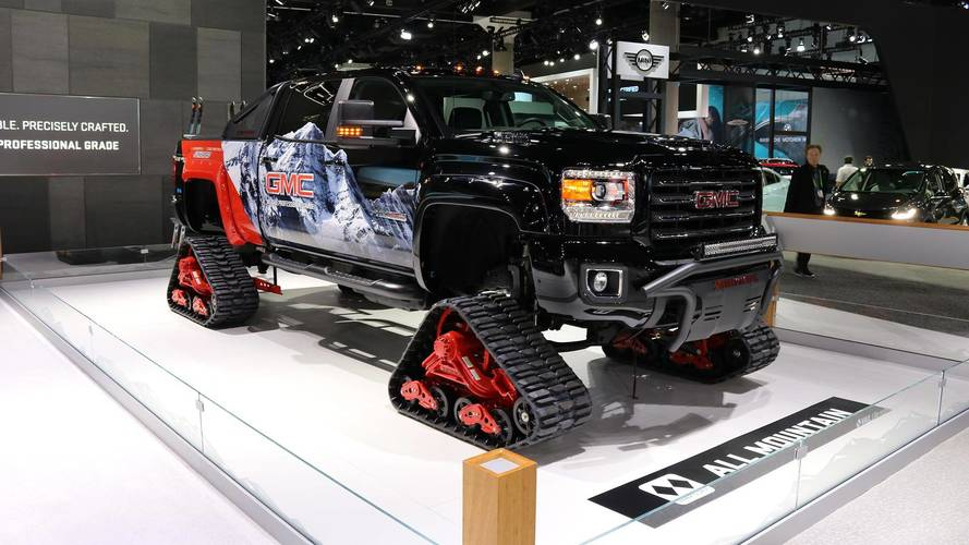 Tracked GMC Sierra All Mountain Concept Hits The Slopes At Vail