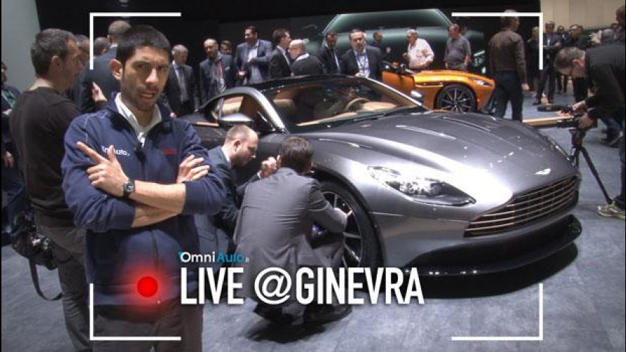 Salone di Ginevra 2016, il fascino dell'Aston Martin DB11 [VIDEO]