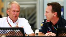 Dr Helmut Marko (AUT) with Christian Horner (GBR), 04.04.2014, Bahrain Grand Prix, Sakhir / XPB