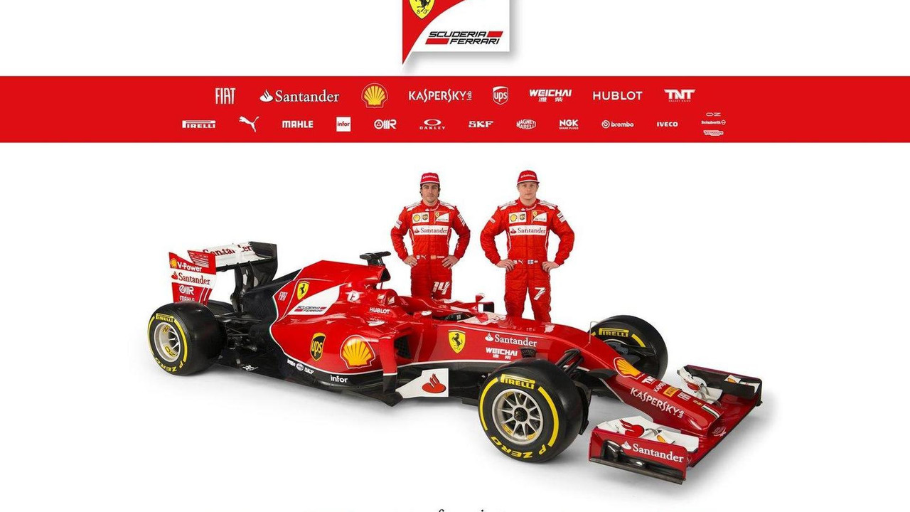 Fernando Alonso and Kimi Raikkonen with Ferrari F14 T