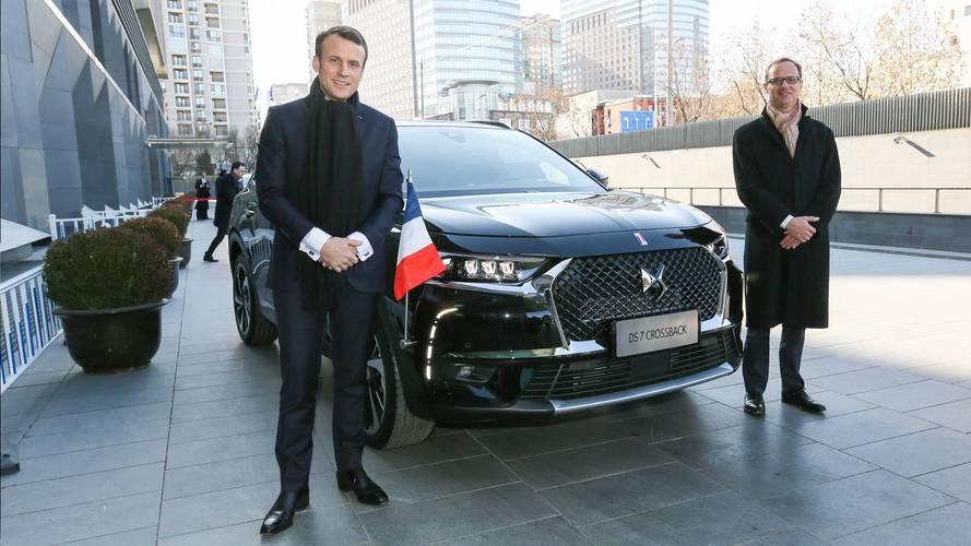 Emmanuel Macron retrouve le DS 7 Crossback en Chine