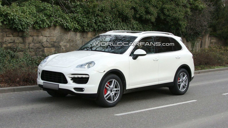 2011 Porsche Cayenne Spied in White with Minimal Disguise