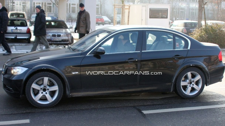 2012 next gen BMW 3 Series chassis mule first spy photos