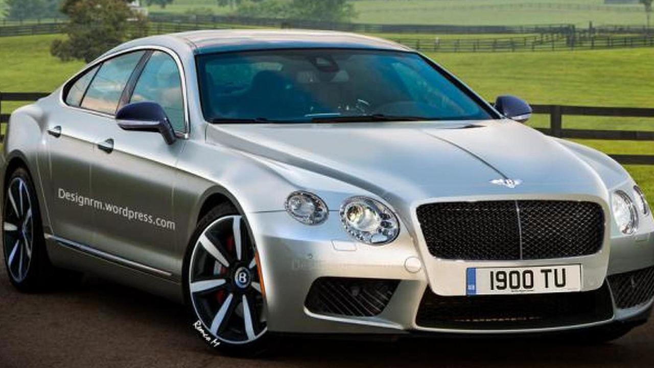 Bentley four-door coupe render
