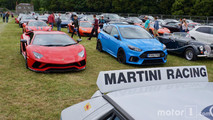 Luxury and supercar parking at Goodwood FoS 2017