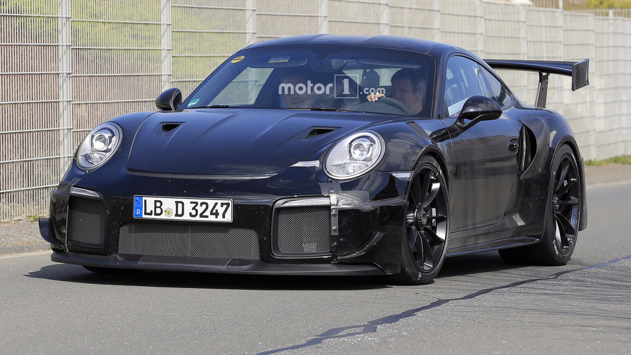700 hp porsche 911 gt2 spied flaunting huge exhaust tips. Black Bedroom Furniture Sets. Home Design Ideas