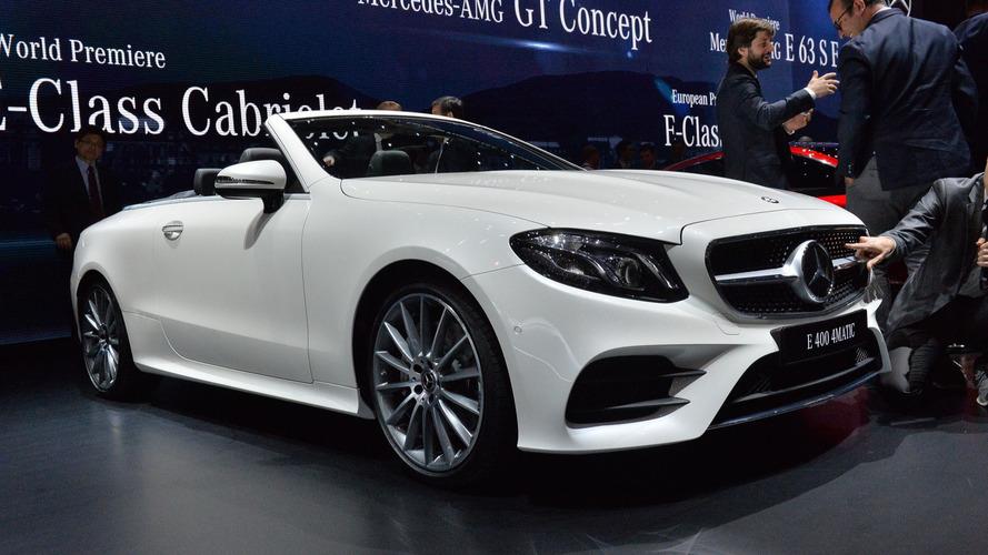 2018 Mercedes E-Serisi Cabriolet Cenevre'de