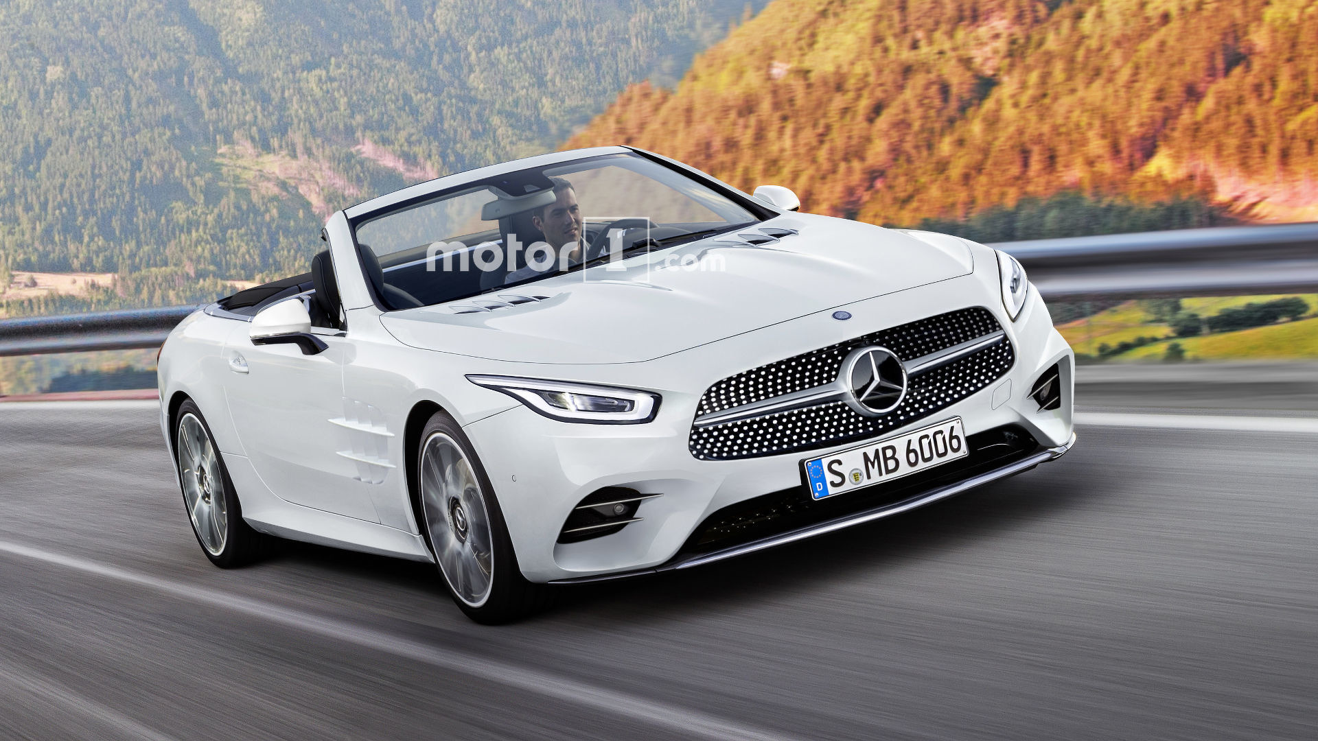 2019 mercedes sl render has us yearning for more for Mercedes benz sl550