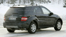 New Mercedes M-class caught cold weather testing