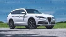 Render del SUV grande de Alfa Romeo