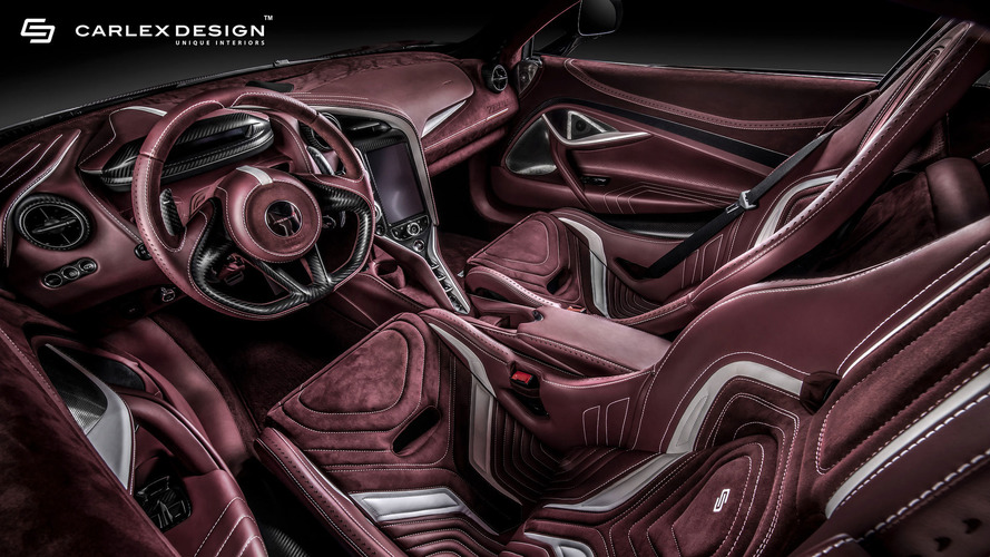 McLaren 720S Gets Burgundy Interior Makeover From Carlex Design