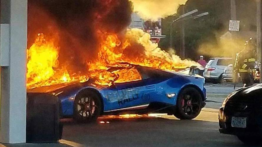 Lamborghini Huracan Performante Burns Down in Missouri Gas Station Accident