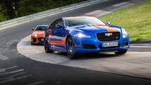 Jaguar XJR575 and F-Type SVR Nurburgring taxis