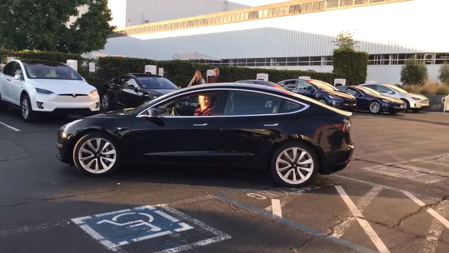 First Production Tesla Model 3 Up Close And Personal Video