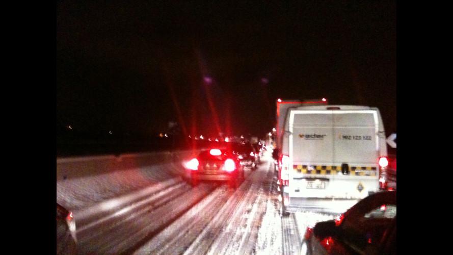 Maltempo: caos in autostrada, nessun colpevole