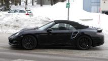 2013 Porsche 911 Turbo Cabriolet prototype spy photo