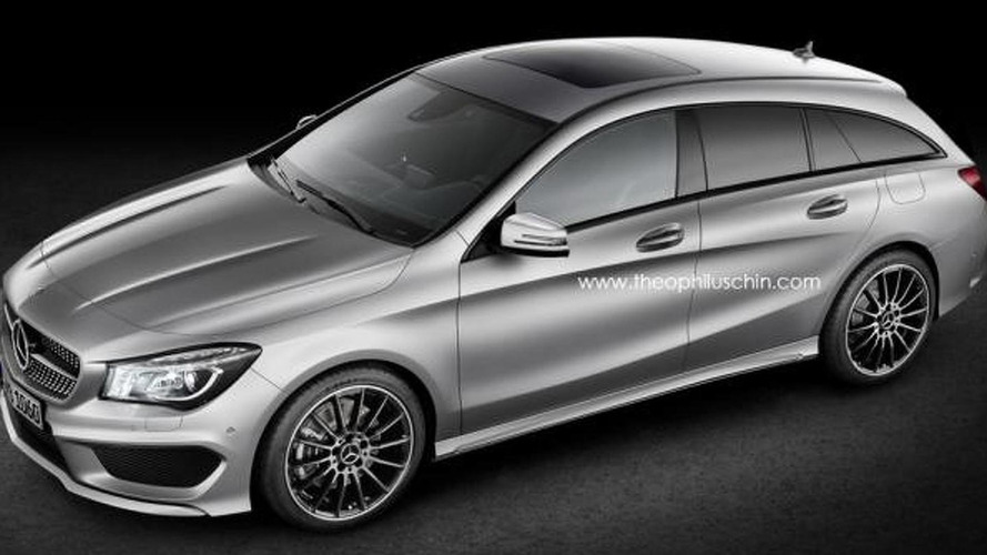 Mercedes-Benz CLA Shooting Brake gets rendered