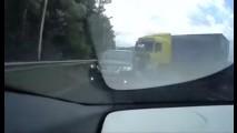 Vídeo: reação rápida livra motorista de caminhão desgovernado na Rússia