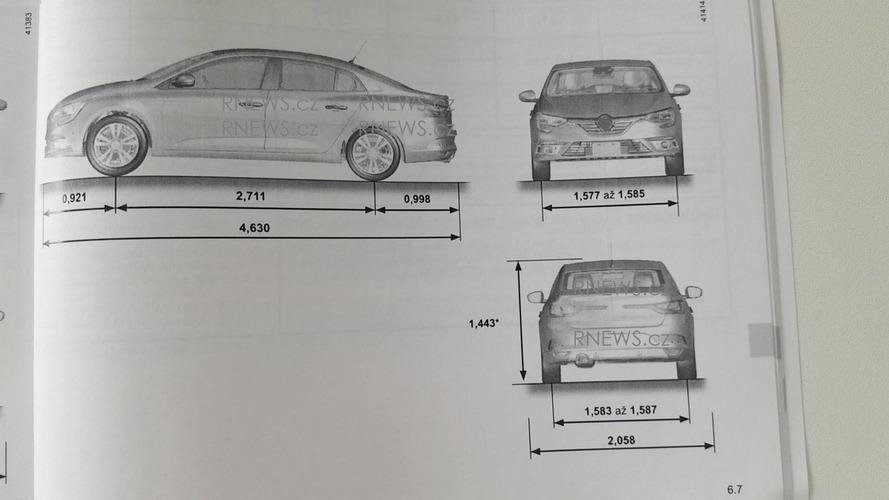 2017 Renault Fluence / Megane Sedan owner's manual leaked