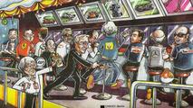 Bernie Ecclestone Christmas card 2008