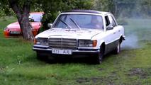 Mercedes-Benz W116 motor diésel viejo