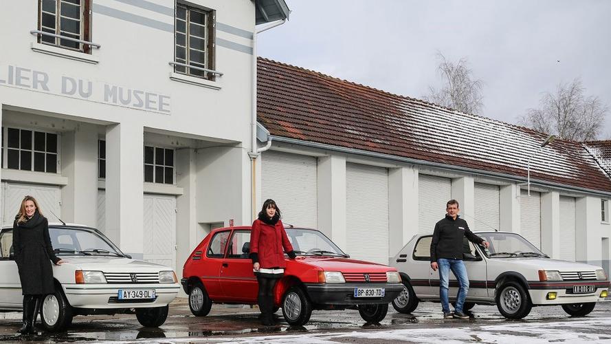 Trois Peugeot 205 renaissent de leurs cendres