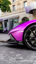 KVC - Lamborghini Aventador violette à Paris