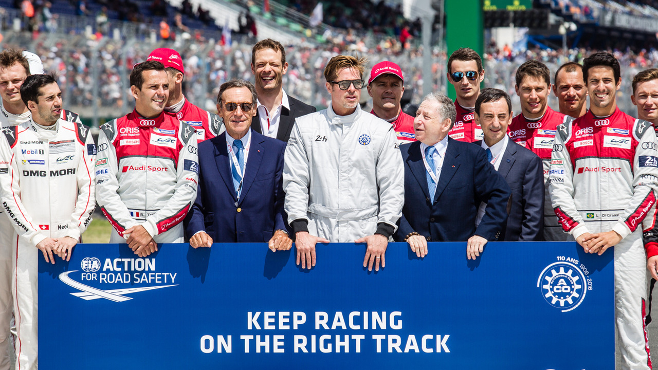 FIA Action for Road Safety photoshoot with FIA President Jean Todt