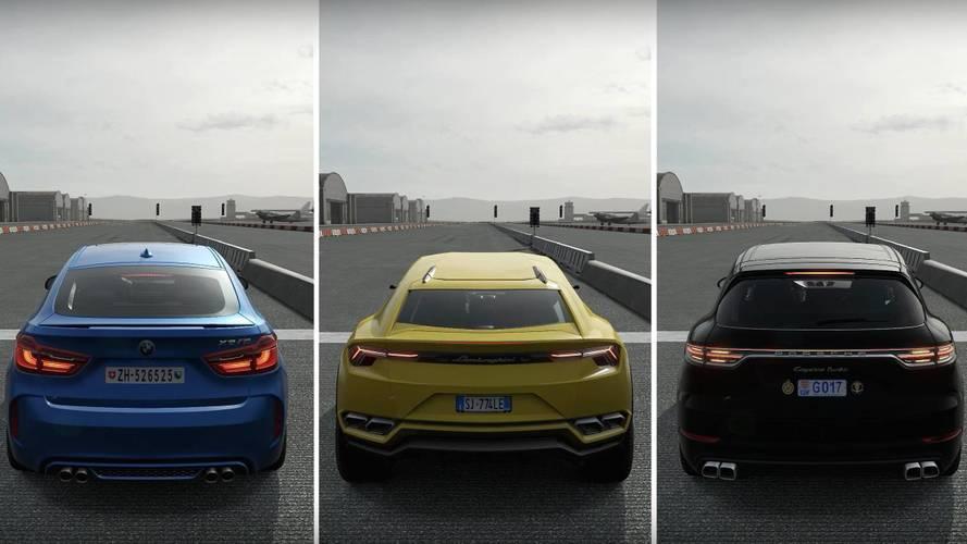 Lamborghini Urus Battles Porsche Cayenne Turbo, BMW X6 M In Forza