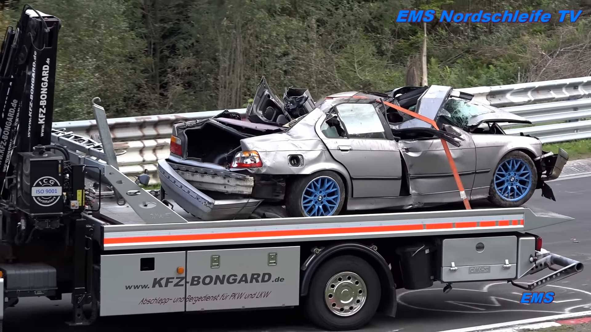 Nürburgring Wrecked Car Vid Reminds Us How Deadly The Track Can Be