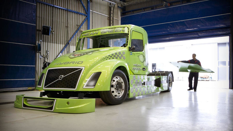 Volvo aims to set a new world speed record... with a hybrid truck